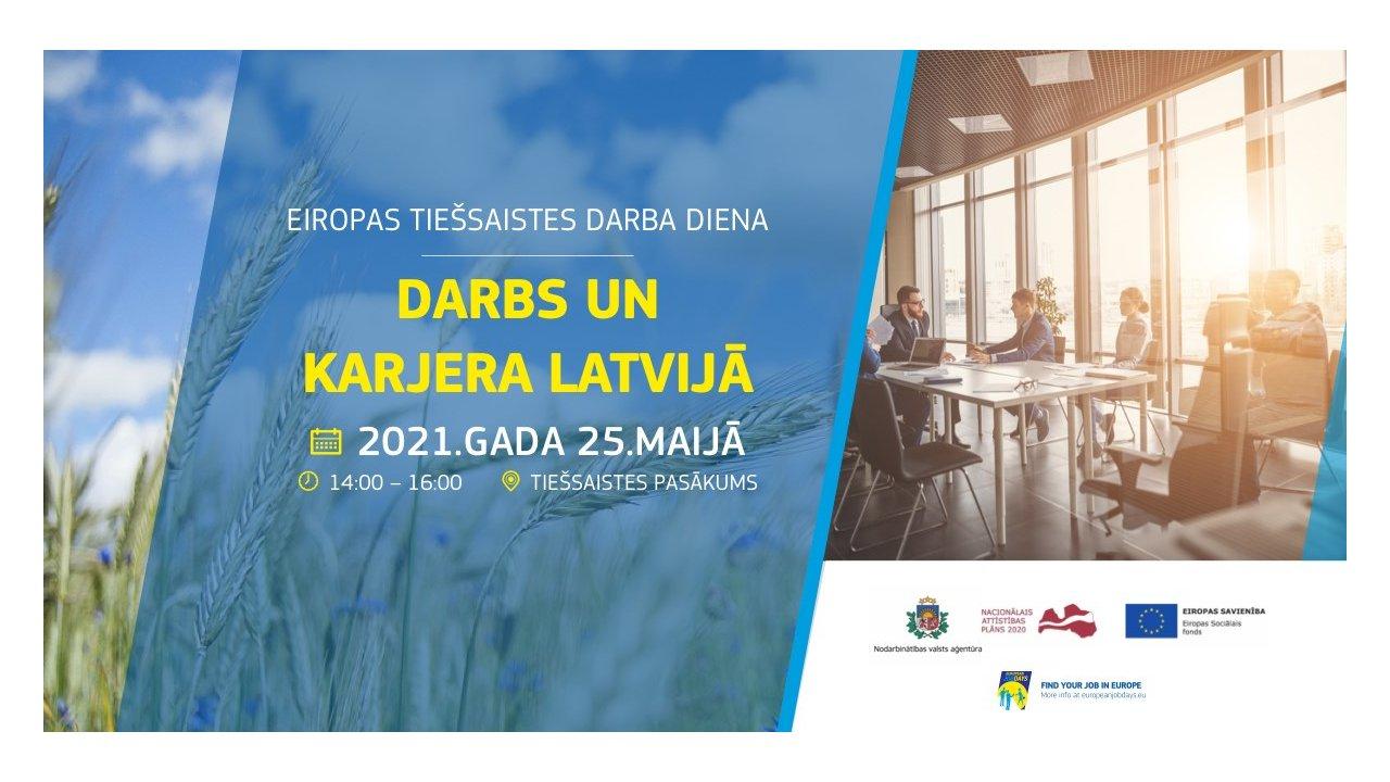 """Nodarbinātības valsts aģentūra organizē tiešsaistes darba dienu """"Darbs un karjera Latvijā"""""""