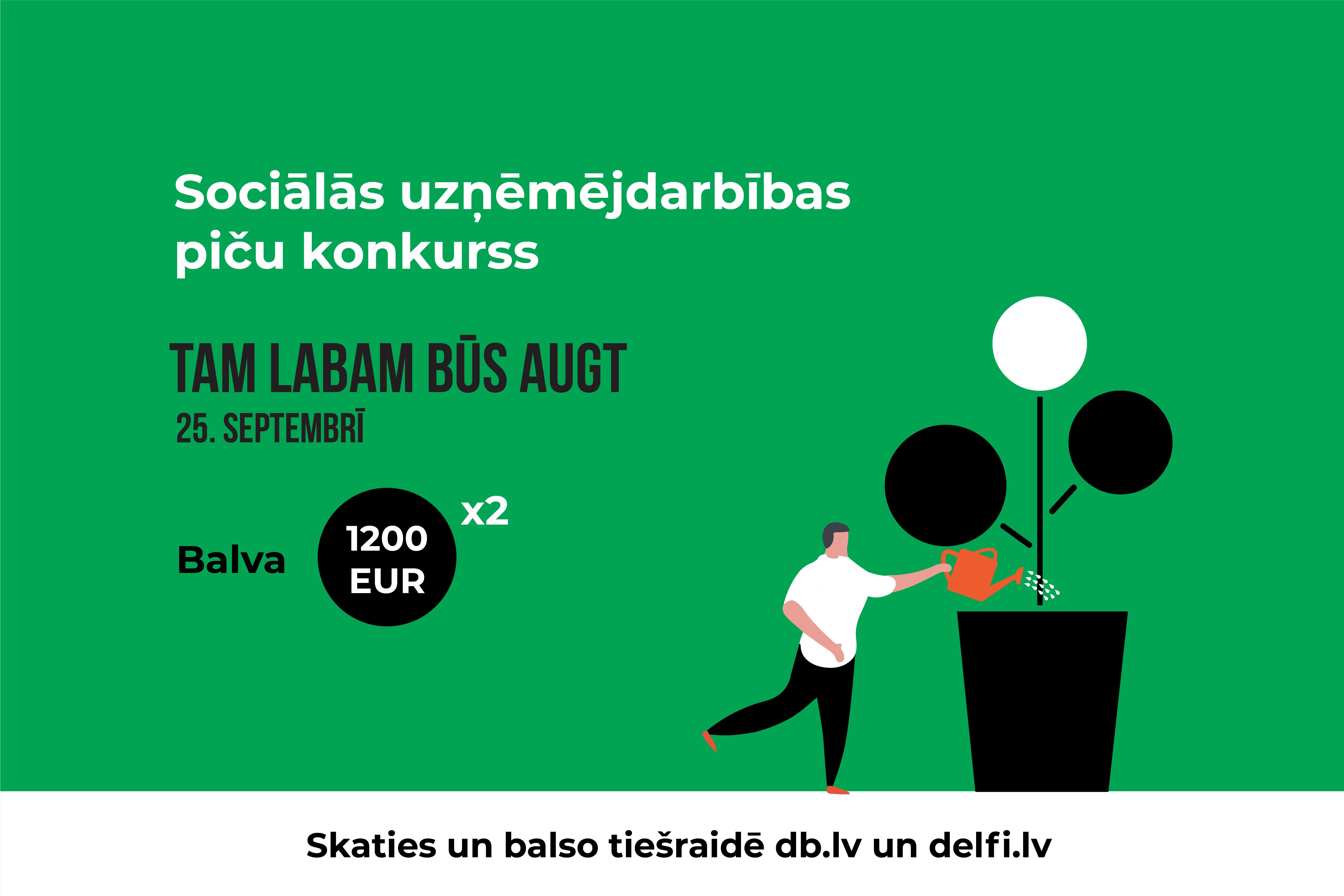 Aicina pieteikties sociālās uzņēmējdarbības ideju un projektu konkursam